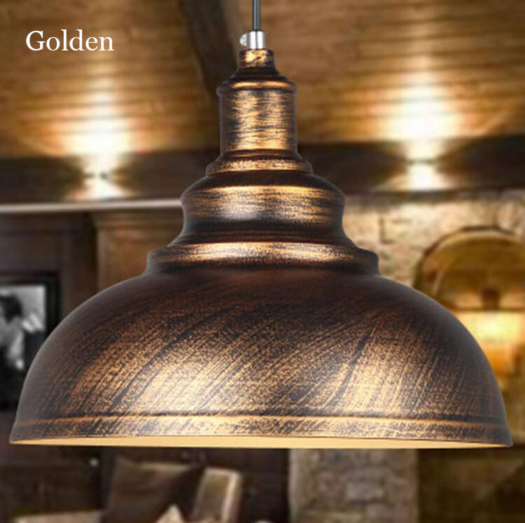 Loft Style Vintage Industrial Retro Pendant Lamp Light E27 Holder Iron Restaurant Bar Counter Attic Bookstore Lamp