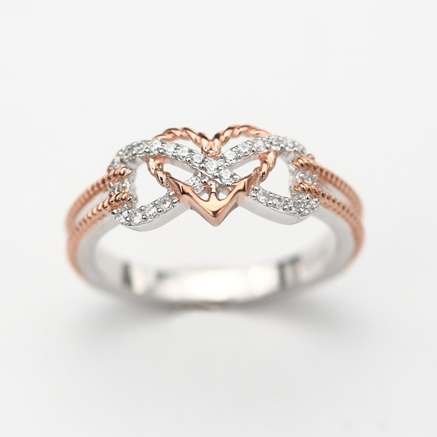 Heart Infinity Rope Ring 5