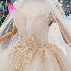 Image 4 - AIJINGYU Artı Boyutu Gelinlikler gelin elbiseleri Satış Türk Boncuklu Çin Fabrika Kıyafeti Web Siteleri Lüks Kristal düğün elbisesi