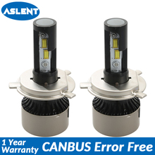 Aslent H4 H7 LED Car Headlight lamp Spuer Canbus Error Free H11 H8 H9 H1 HB3 9005 9006 Auto light Bulb 120W 24000lm 6500K 12v