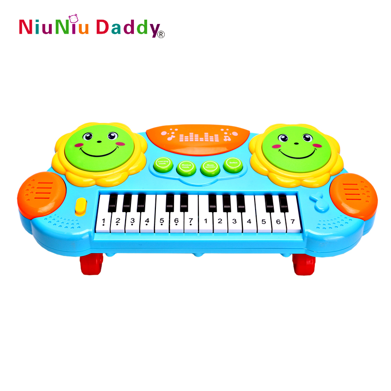 Niuniu Daddy Kids Eletronic Piano Toy Musical Luminous Instrument Toys Developmental Early Educational Toy Child Music Keyboard
