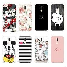 Sevimli Mickey Minnie Telefon Kılıfları Için Coque Huawei Mate 10 Lite Kılıf Kapak Yumuşak Silikon Için Huawei Mate 10 P9 p10 P2...