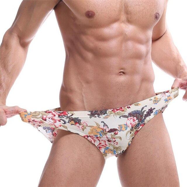 2d84c7befe Aliexpress.com : Buy 2019 Besy price Fashion Gay Men Underwear Best Hot Men  Briefs Flower Underwear Silky Sexy Trunks Cuecas Gay Shorts Man from  Reliable ...