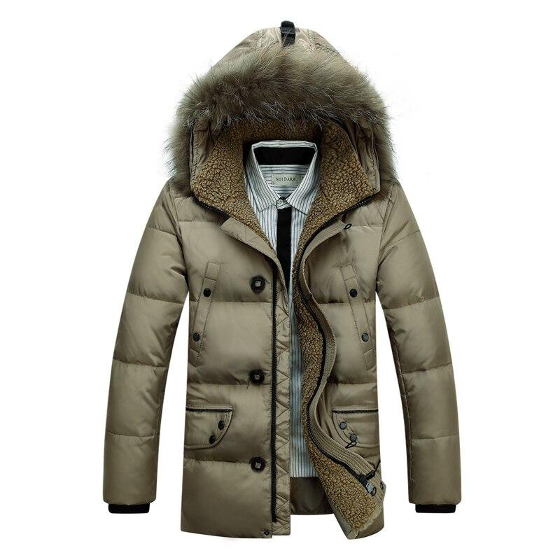 4e12585c2 Men Winter Coat Fur Collar Duck Down Parka Jackets Mens Puffer jacket With  Fur Hood Rabbit Deisgner Warm Coats Brand Women 2016-in Down Jackets from  ...