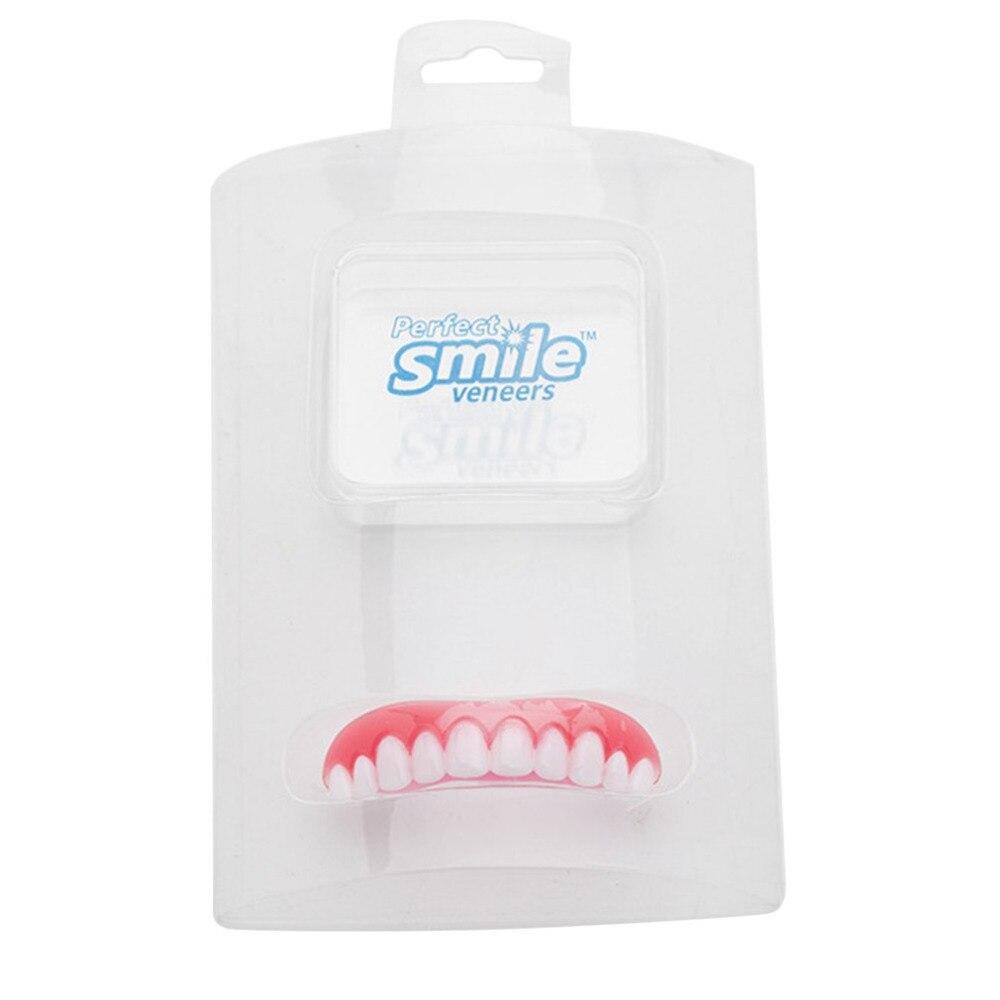 Perfect Smile Veneers Denture Paste Instant Teeth Flex Fit Press On Veneers Covers Size 1 Pcs Color Beige