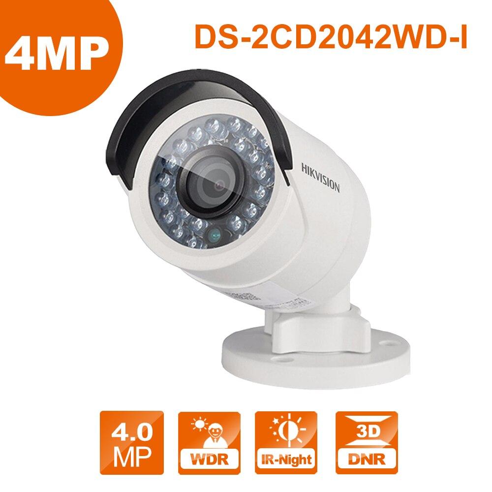 Hik D'origine DS-2CD2042WD-I 4MP Réseau caméra vidéo IP mise à niveau du système de Sécurité en plein air Webcame