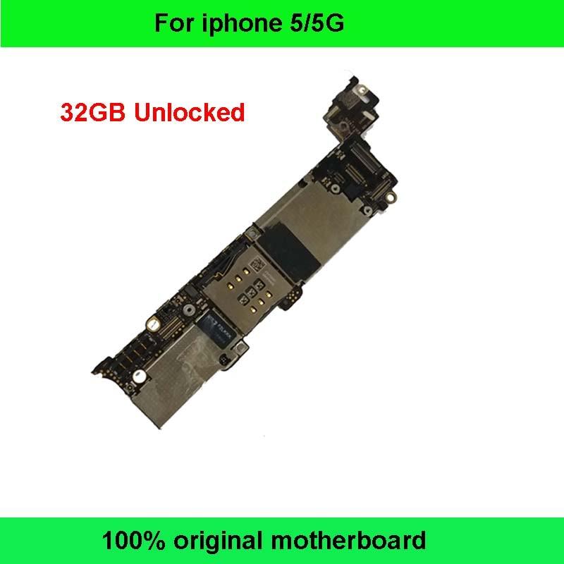 bilder für 32 gb gute arbeits ursprünglicher freigesetzter mainboard für iphone 5 5g motherboard für iphone 5 5g logic board ios system mit geschenk