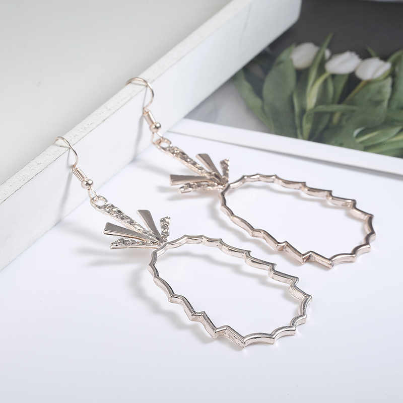 Hot Sale drop Earrings for Women Girl Pineapple Fruit Gold color Earrings Jewelry exquisite Party Wedding Jewelry Gift Wholesale