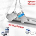 Высокая скорость Оригинальный Новый Mini USB 3.0 Flash Drive 32 ГБ 16 ГБ Memory Stick Водонепроницаемый Крошечные Металлические Pen Drive U Диск Горячей продажа