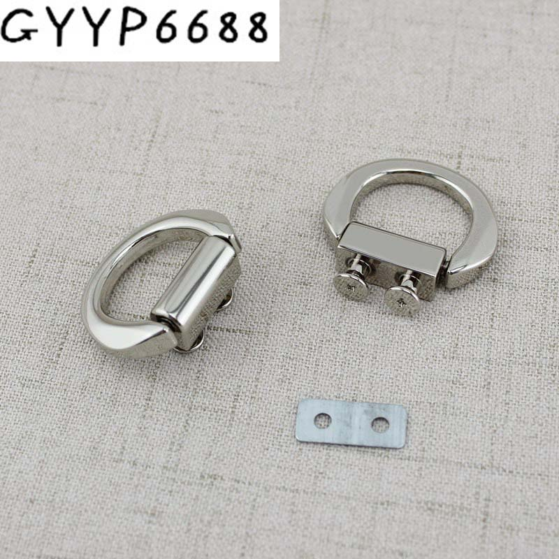 2pcs 30pcs Hanger Connector Wholesale Handle Decoratio Finished Die Casting Metal Fitting Hardware Bag Accessories Screw Square