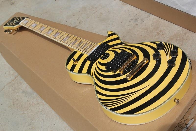 Free Shipping Factory custom shop New high quality LP Custom EMG pickup Zakk Wylde Vertigo electric guitar 914 стоимость