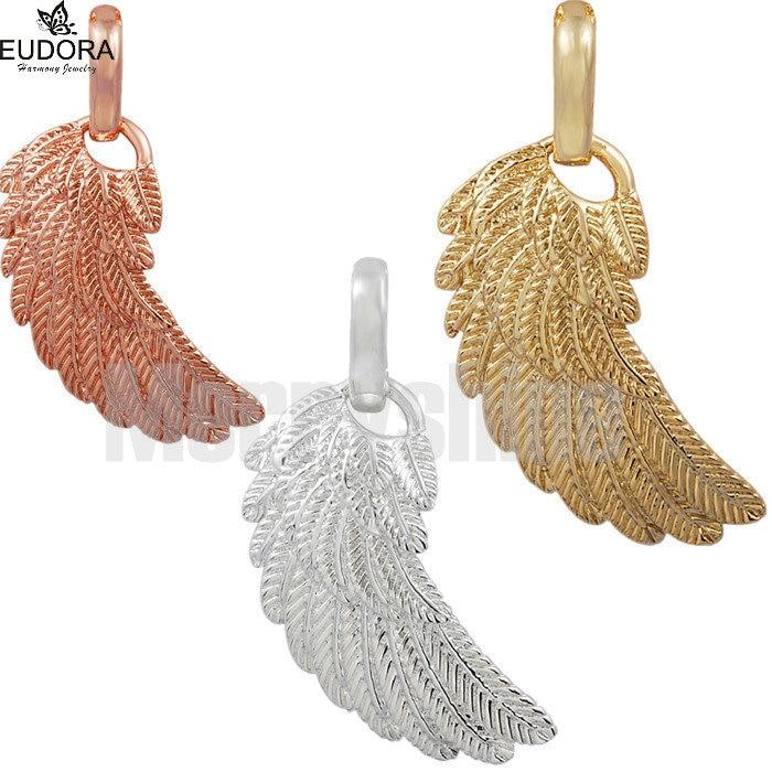 Small Angel Caller Wing Pendant Copper Angel Wings Eudora Feature - Märkessmycken - Foto 5
