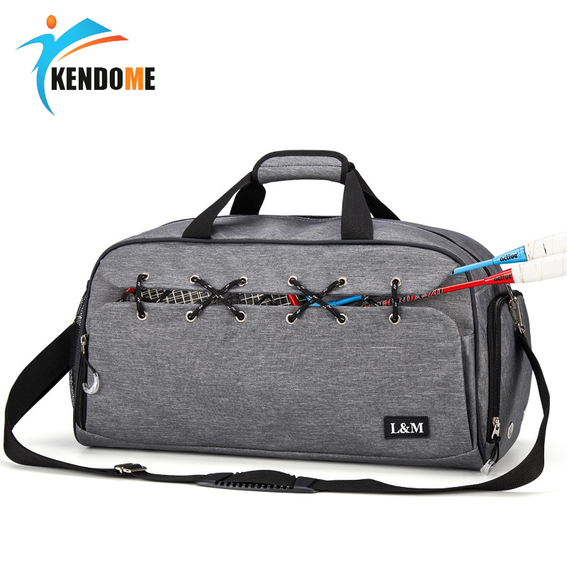 Hot Top Canvas Outdoor Unisex Portable Waterproof Sports Gym Bags Professional Men And Women Large Capacity Yoga Training Bag