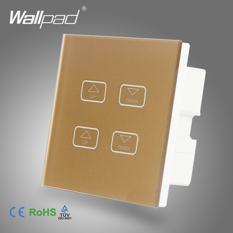 Intelligent 4 Gang 1 Way Dimmer Wallpad Gold Crystal Glass Switch 4 Gang LEd Light Dimmer Dimming Touch Control Switch 1 Way
