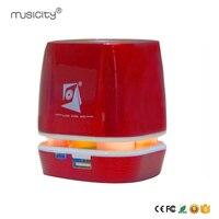 Musicity LED Беспроводной Колонки Портативный Mini Bluetooth Динамик с колонкой громкий Динамик Радио SD USB Порты и разъёмы для смартфона ПК 5 Вт
