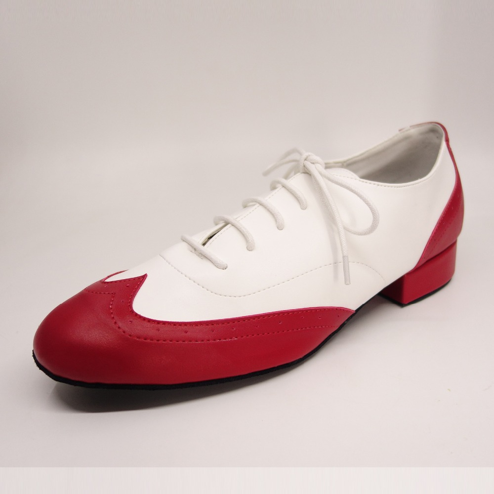 HXYOO 2018 New Model Genuine PU Leather Soft Sole Men s Latin Dance Shoes Ballroom Shoes