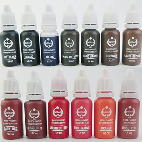 10 Colors Tattoo Makeup Permanent Tattoo Ink Set 15ml one Bottle  Pigment for Eyebrow Embroidery Tattoo Makeup Pigment 10 colors tattoo makeup permanent tattoo ink set 15ml one bottle biotouch pigment for eyebrow embroidery tattoo makeup pigment