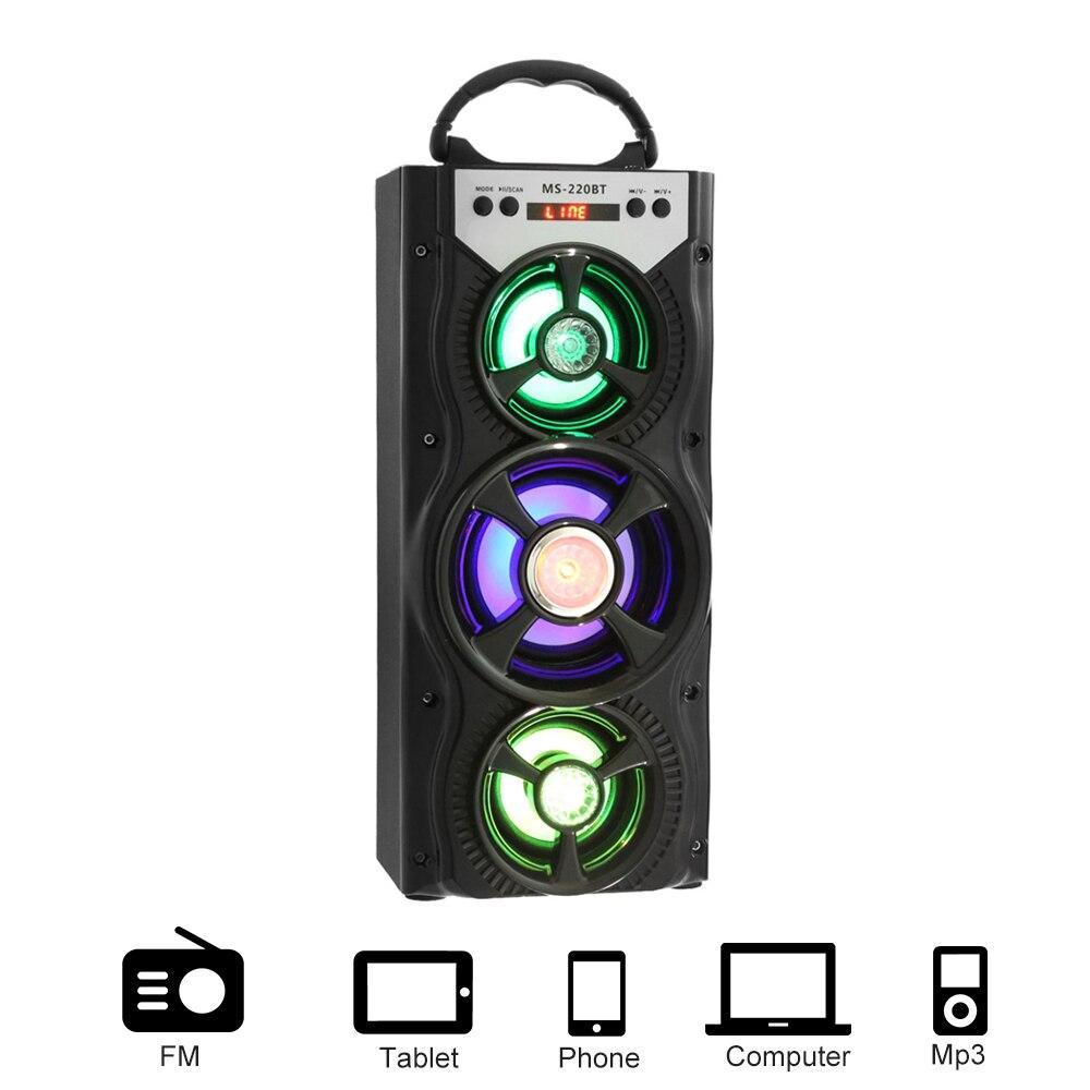 Mesuvida MS - 220BT Speaker Portable Bluetooth speaker FM Radio speaker Sleek Colorful Backlight loudspeaker USB TF Card Slot tt 028 colorful flash mini speaker w fm tf card reader