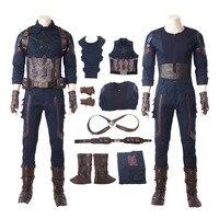 Капитан Америка Косплэй костюм Мстители Бесконечная война карнавальный Хэллоуин костюмы супергерой Стив Роджерс Капитан Америка костюм