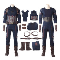 Captain America Cosplay Costume Avengers Infinity War Carnival Halloween costumes Superhero Steve Rogers Captain America Suit