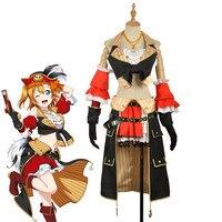 Любовь в прямом эфире школа идол проект Косака Хонока Морское пиратство Пираты трубки Майки фартук платье равномерное наряд аниме Костюмы