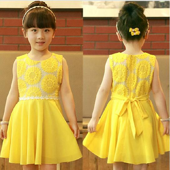 Popular Yellow Girl Dress-Buy Cheap Yellow Girl Dress lots from ...