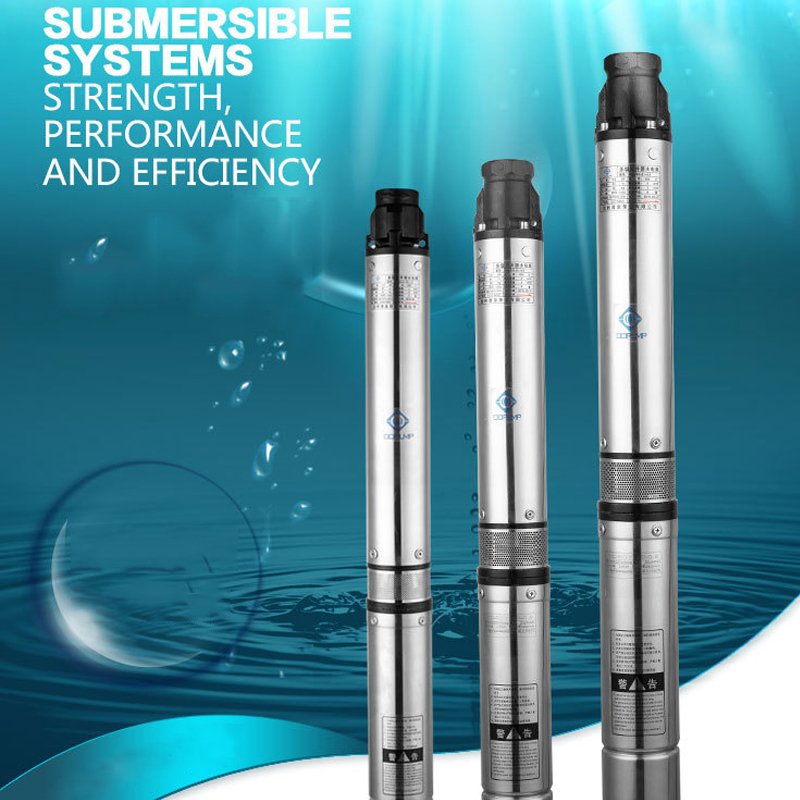 stainless submersible pump 70m submersible pump fountain 1 1kW 2 years warranty factory price submersible well