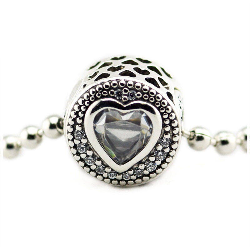 e450f6592 Fits For Pandora Bracelets Queen Bee Charms with Black Enamel & Clear CZ 100%  925 ...