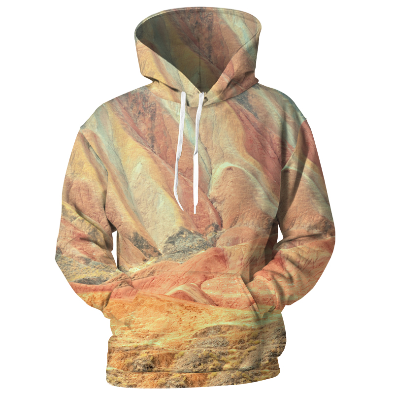 Cloudstyle Men/Womens landform Hoodies Print Karst Mountain 3D Sweatshirts Casual Long Sleeve Streetwear New Design Pullovers