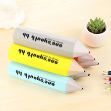 1pc 6 Color Soft Silicone Pencil Shape Zipper Pencil Case Pen Box Pencil Bag Student Storage Stationery Office Children Gift(China)