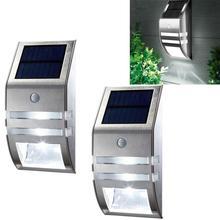 2 шт., водонепроницаемые светодиодные панели на солнечной батарее с датчиком движения