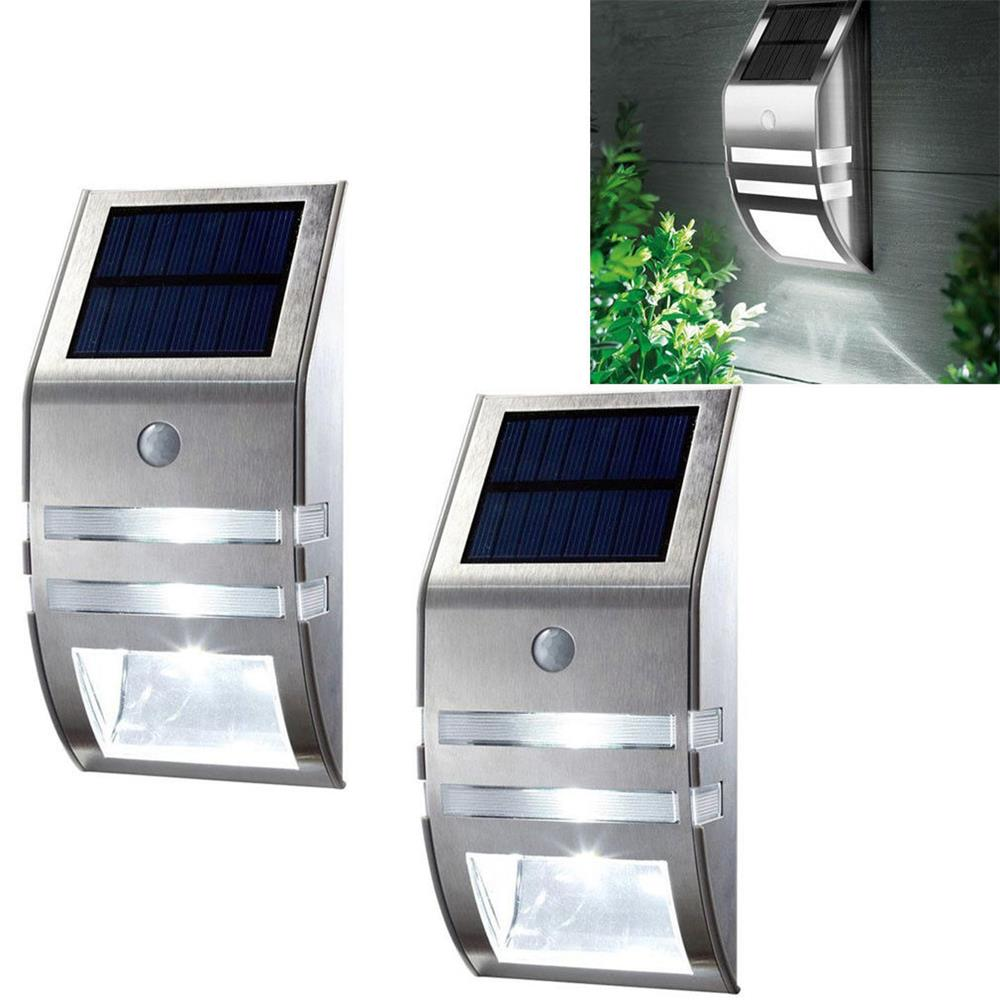2pcs Waterproof IP65 Solar Light Outdoor Garden Security Led Solar Powered Panel Lamp Wall Lampada PIR Motion Sensor Decorative
