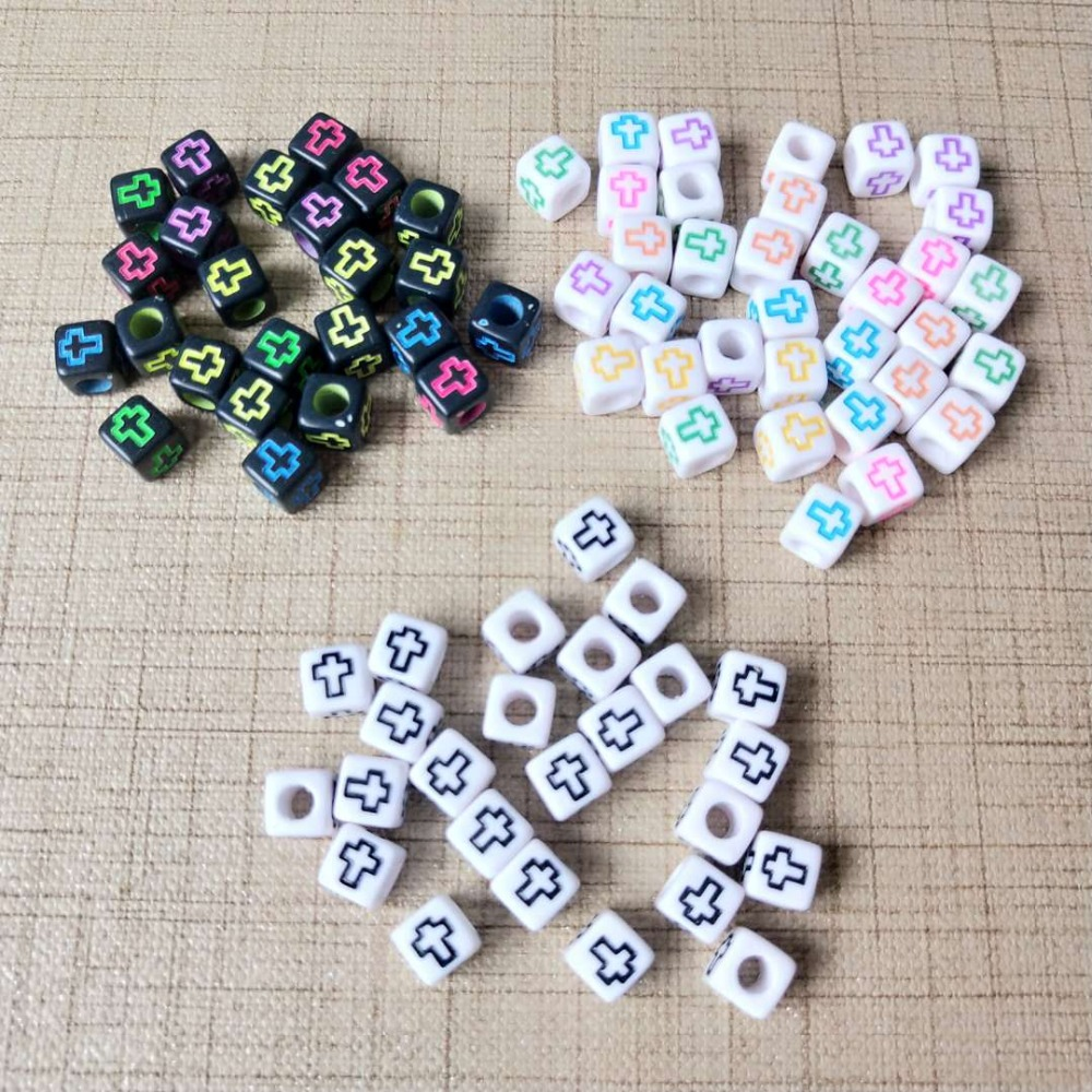 """500 White with Colourful Assorted Number /""""0-9/"""" Acrylic Coin Beads 4X7mm"""