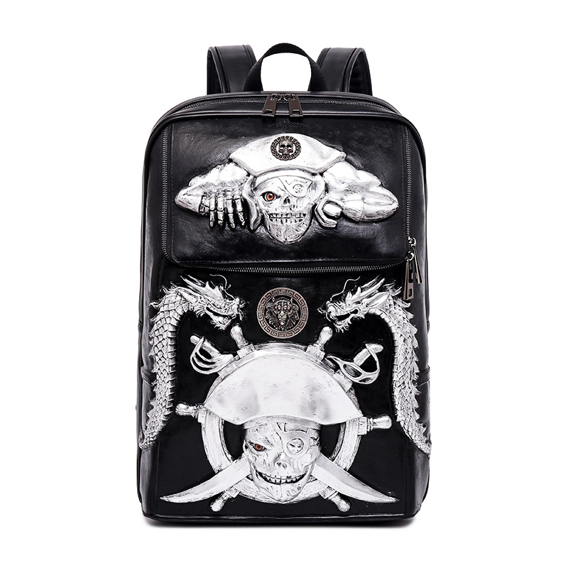 3D Captain Pirate Laptop Backpack for Men Punk Rock Hip Hop Daily School Backpack Casual School Bags for Boys Girls Travel Bag twenty one pilots backpack for teenage boys girls student school bags children daily bag hip hop backpack with pencil bag