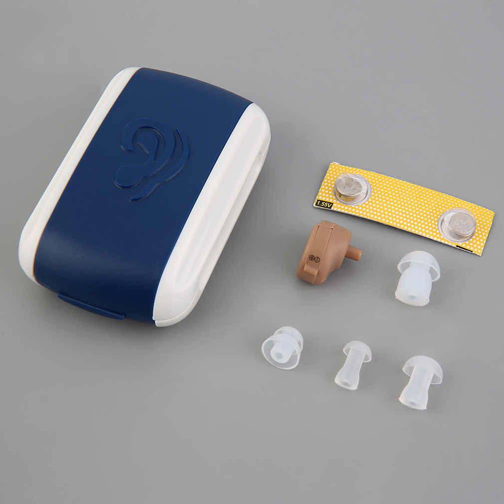 Portable Small Mini Hearing Aid Sound Amplifier In the Ear Tone Volume Adjustable Hearing Aids For Deaf Elderly Ear Care Tool
