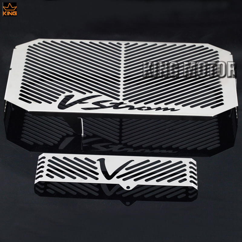 For SUZUKI DL650 V-Strom 2004-2010 Motorcycle Radiator Grille Guard Cover Oil Cooler Protector Fuel Tank Protection Net arashi motorcycle radiator grille protective cover grill guard protector for 2008 2009 2010 2011 honda cbr1000rr cbr 1000 rr