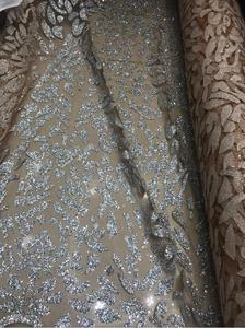 Image 3 - Nigerian French Fabric High Quality JIANXI.C 52205 Best Selling African Lace Fabric Glued glitter sequins Tulle Lace Fabric