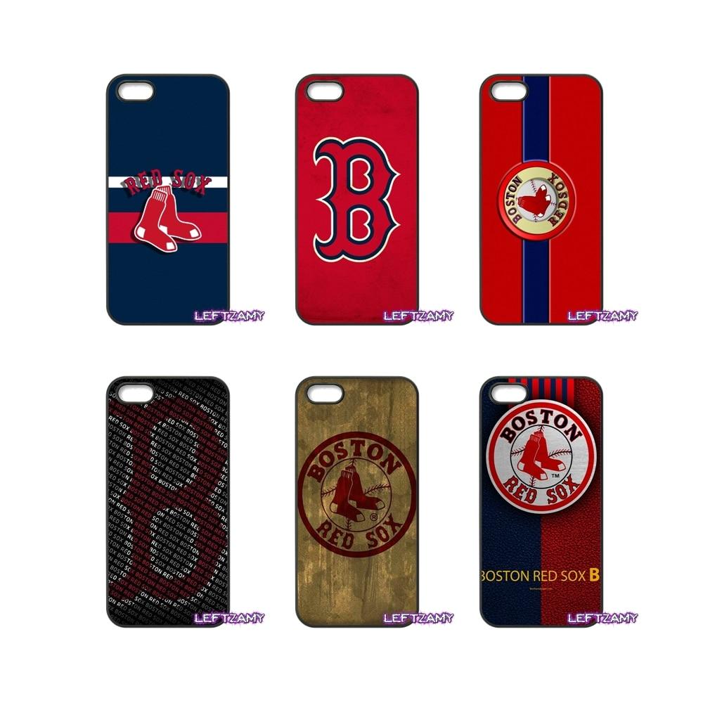Boston Red Sox Baseball Logo Hard Phone Case Cover For Xiaomi Redmi Note 2 3 3S 4 Pro Mi3 Mi4i Mi4C Mi5S MAX
