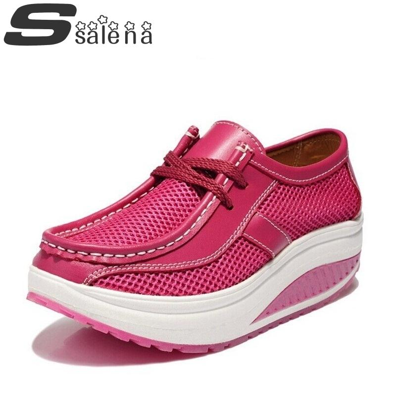 ФОТО Newest Fashion Ladies Leather Shoes Women Flats Breathable Mesh Summer Shoes For Women A306