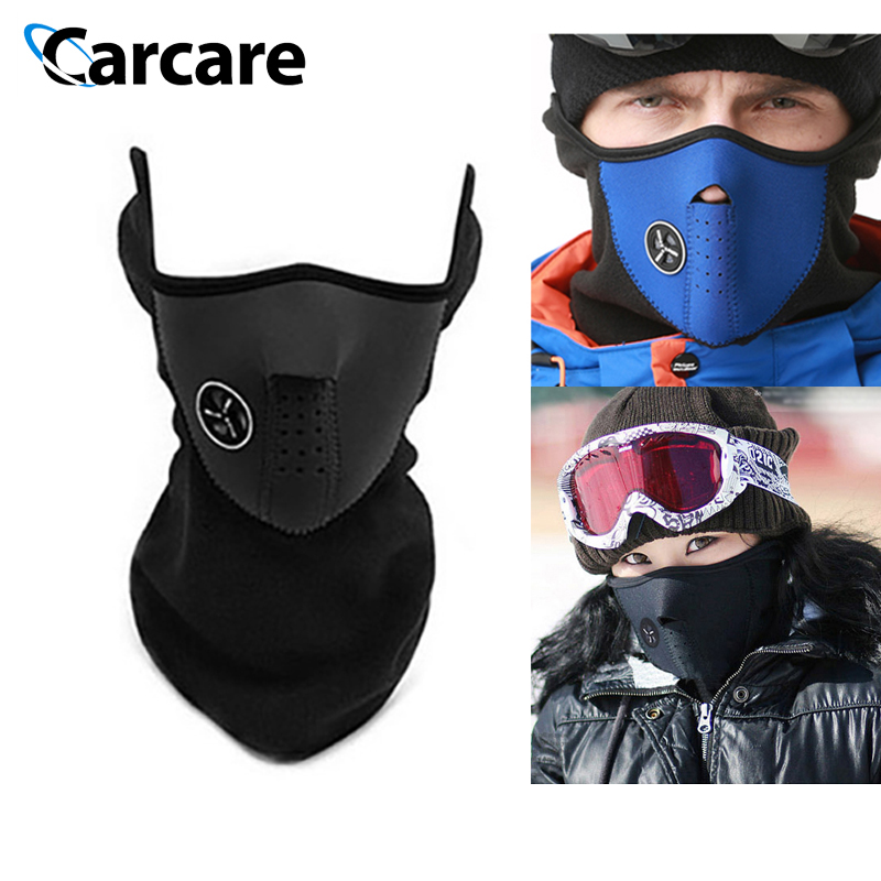 Motorcycle Face Mask Cover Windproof Ski Mask Snow Moto Half Face Neck Care Guard Scarf Warm Winter Warm Protecting Face Shield