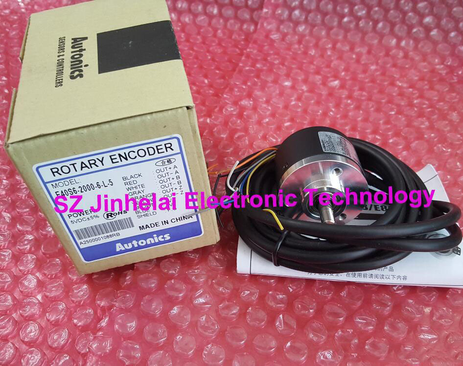 100% Authentic original E40S6-2000-6-L-5 Autonics ENCODER 100% authentic original e40s6 2500 6 l 5 autonics encoder
