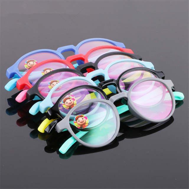 98a1dc45eb Glasses Boy Girl Eyeglasses Lightweight Flexible Eyewear Frame Children  Prescription Glasses frame Silicone nose care 666