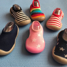 Cute Anti-slip Baby Thin Sock Baby Socks With Rubber Soles Toddler Shoes Soft Bottom For Newborn Non-slip Socks