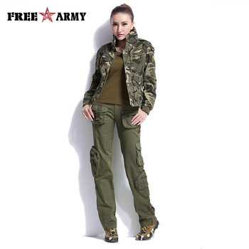 Large Size Cargo Pants Women Winter Military Clothing Tactical Pants Multi-Pocket Cotton Joggers Sweatpants Army Green Trousers 6