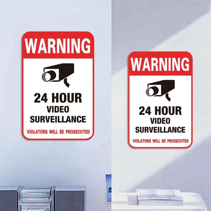 5pc Security Camera Warning Stickers Police Dispatch CCTV Surveillance Sticker