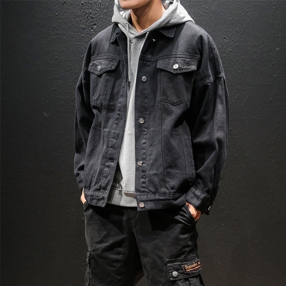 2019 nouveau hommes Denim Streetwear Bomber Slim Fit veste jeunesse haute qualité Cowboy manteaux noir/rouge/blanc/vert coupe-vent S-2XL