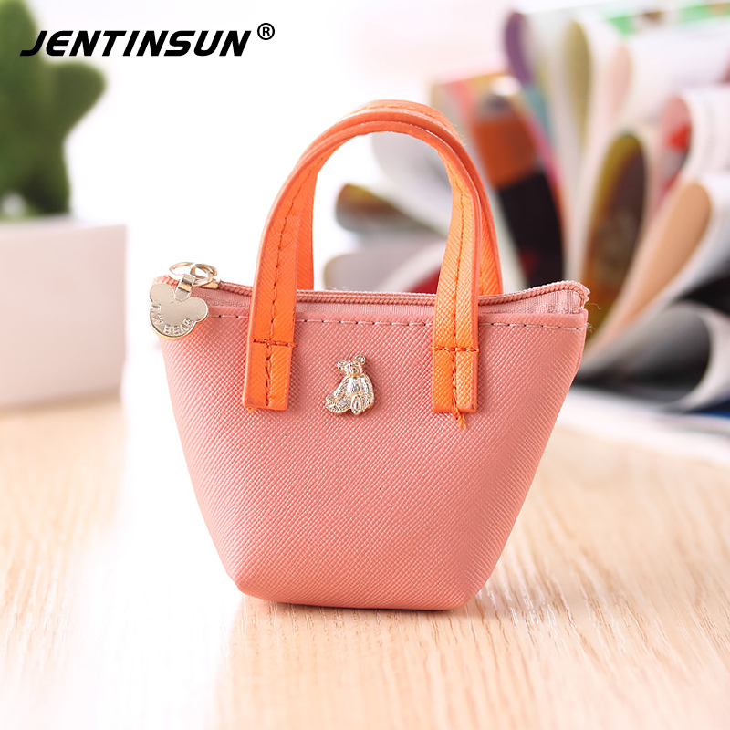 Cartoon Girls Coin Purse Handbag Cute Candy Color Leather Small Mini Coin Pouch Bag Children Wallet Change Purses For Kids Gifts