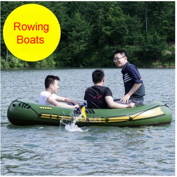 2 Adults+1 Child Super Thickening Inflatable Rowing Boat 3 Persons 230*110 CM Boat Inflatable Rowing Boat with Spare Parts фото