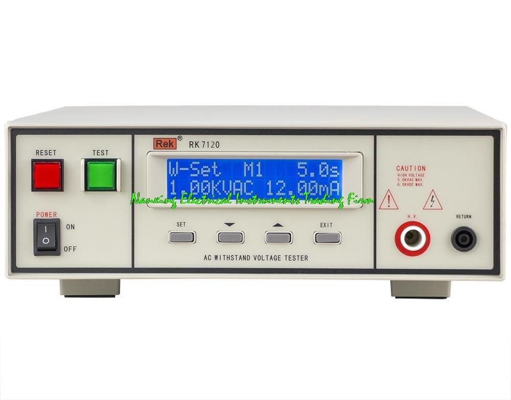 FAST ARRIVAL REK RK7120 AC 0 5KV DC 0 6KV programmable AC DC withstand voltage tester voltage tester withstanding voltage tester tester voltage - title=