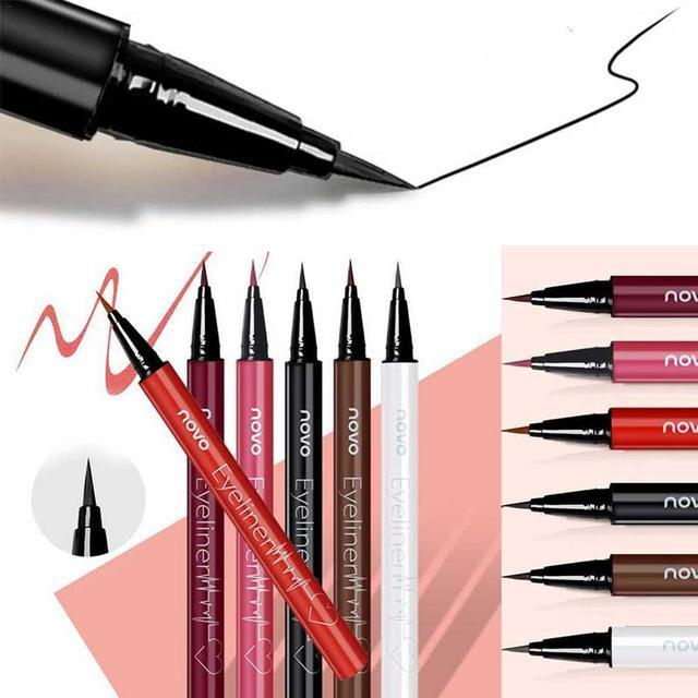 1pcs Eyeliner Waterproof And Sweat Not Dizzy Catch Wine Red Brown Liquid Eyeliner Pen Eye Makeup For Beauty Makeup Beginners 1